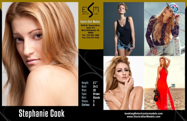 Stephanie Cook Comp Card